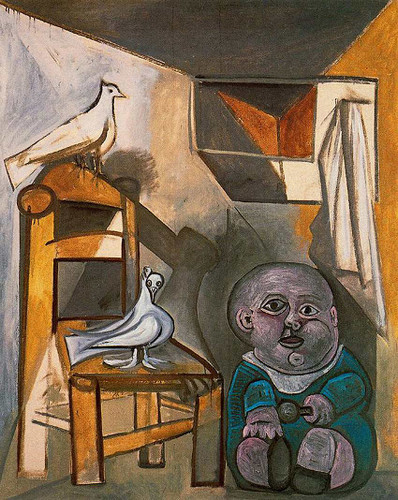 A Child With Pigeons 1943 By Pablo Picasso Art Reproduction from Wanford