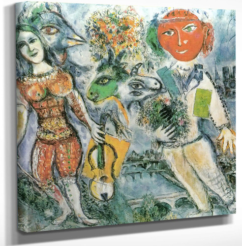 The Players by Marc Chagall