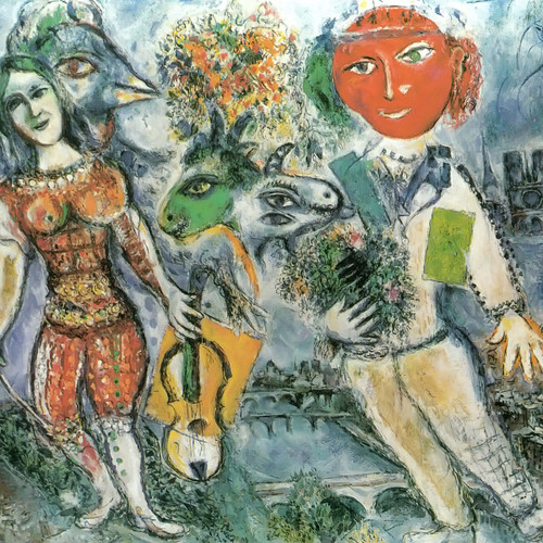 The Players by Marc Chagall Print
