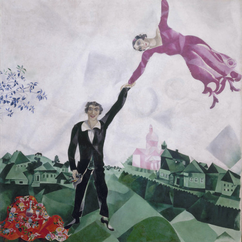 The Promenade By Marc Chagall by Marc Chagall Print