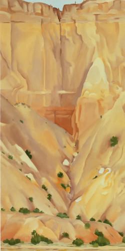 Cliffs Beyond Abiquiu Dry Waterfall by Georgia O Keeffe Print