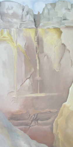 Dry Waterfall by Georgia O Keeffe Print