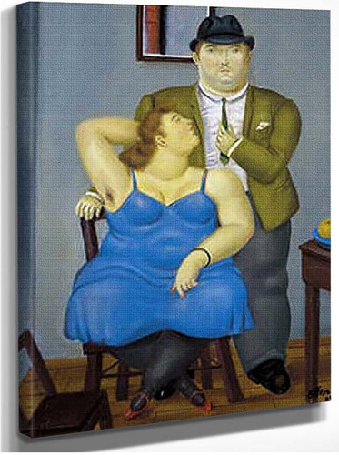 A Couple2 By Fernando Botero