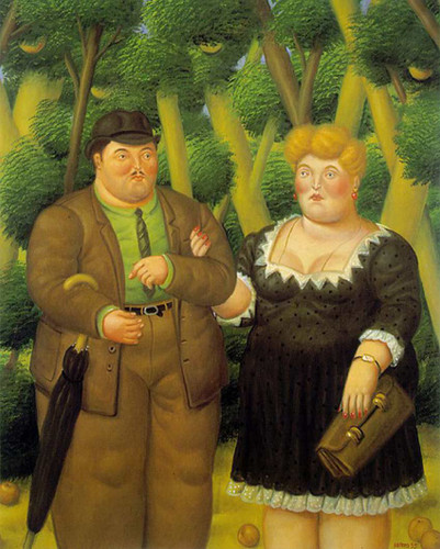 A Couple8 By Fernando Botero Art Reproduction from Wanford