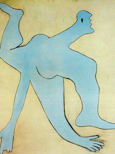 A Blue Acrobat 162x130 by Picasso Print