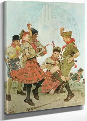 A Good Turn All Over The World by Norman Rockwell