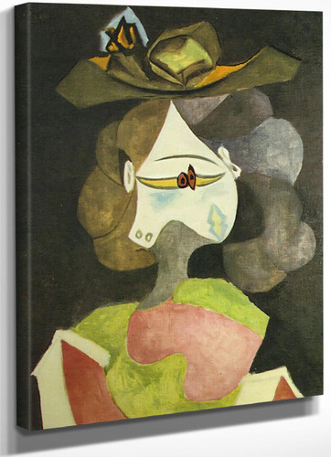 A Hat With Flowers 72x60 by Picasso