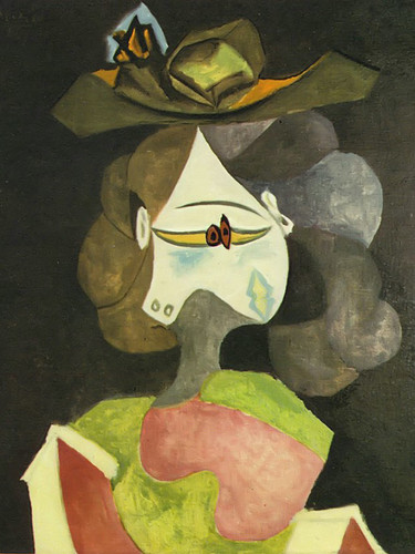 A Hat With Flowers 72x60 by Picasso Print
