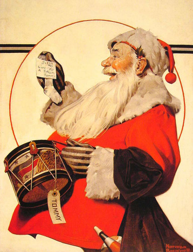 A Drum For Tommy 1921 By Norman Rockwell Art Reproduction from Wanford