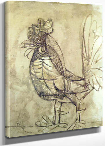 A Rooster 144x118 by Picasso