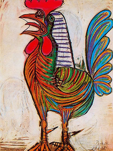 A Rooster 77x54 by Picasso Print