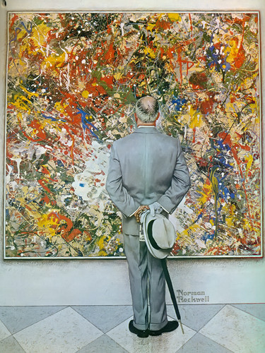 Abstract And Concrete by Norman Rockwell Print