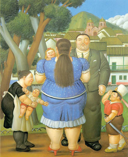 A Family By Fernando Botero Art Reproduction from Wanford