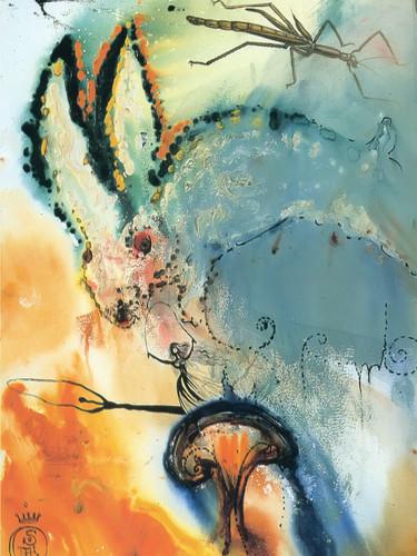 Alice In Wonderland by Dali Print
