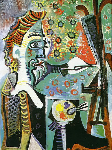 An Artist 100x73 by Picasso Print