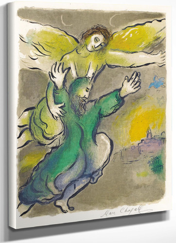 And Moses Beheld All The Work And Behold And They Had Done It As The Lord Has Commanded And Moses Blessed Them 1966 by Marc Chagall