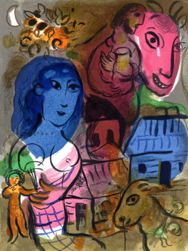 Antilopa Passengers by Marc Chagall Print