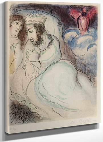 Ara Et Abimelech (From Dessins Pour La Bible) 1960 by Marc Chagall