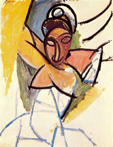 A Girl From Avignon 1907 By Pablo Picasso Art Reproduction from Wanford