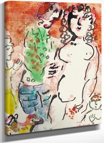 Autour De Nu Circa 1982 83 by Marc Chagall
