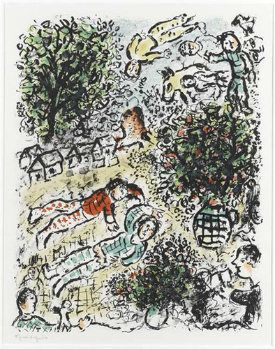 A Green Tree 1984 By Marc Chagall Art Reproduction from Wanford