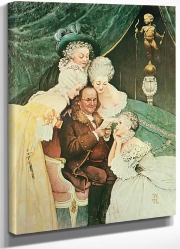 Ben Franklins Bellers by Norman Rockwell