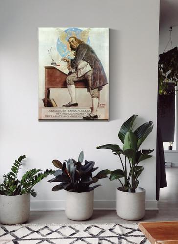 Ben Franklins Sesqui Centennial by Norman Rockwell
