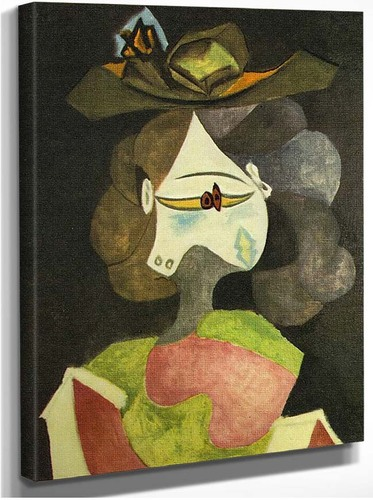 A Hat With Flowers 1940 By Pablo Picasso