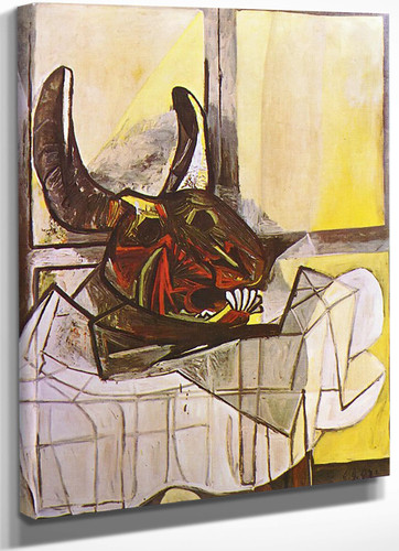Bulls Head On The Table by Picasso