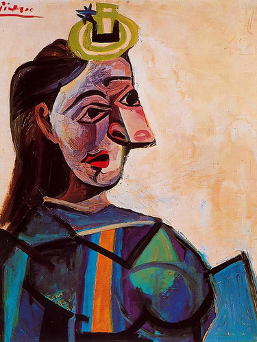 Bust Of A Woman 73x60 by Picasso Print