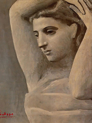 Bust Of A Woman Arms Raised by Picasso Print