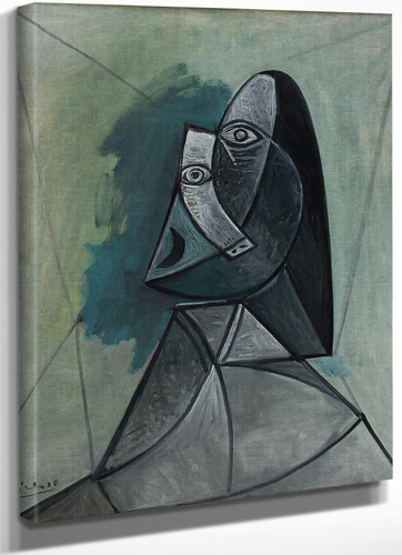 Bust Of Woman 100x81 by Picasso