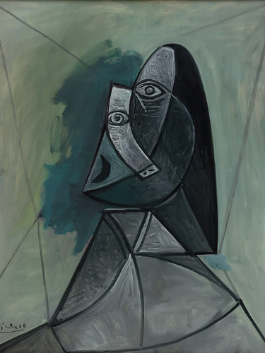Bust Of Woman 100x81 by Picasso Print