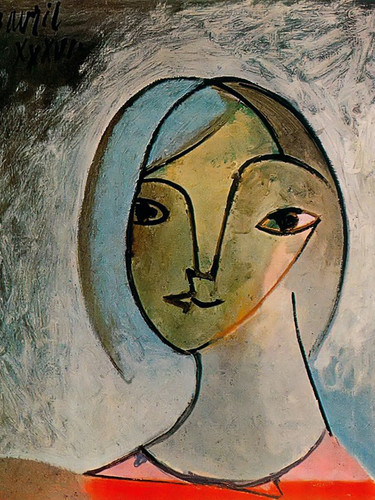 Bust Of Woman 55x46 by Picasso Print