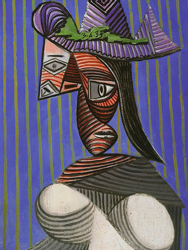 Bust Of Woman 81x54 by Picasso Print