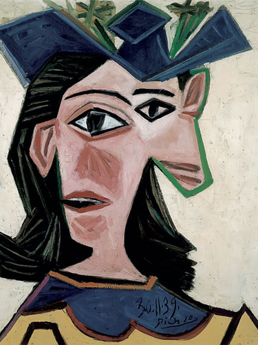 Bust Of Woman With Hat. Dora by Picasso Print