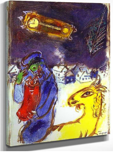 A Jew With Torah By Marc Chagall