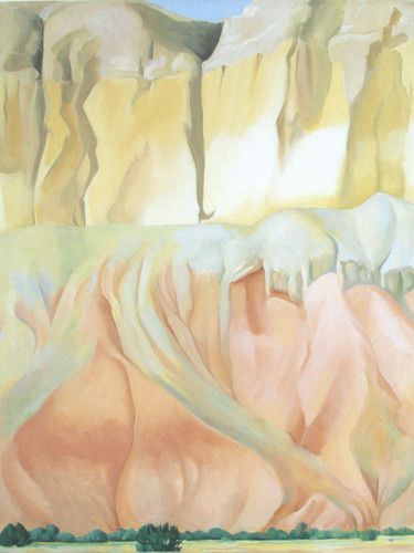 Cliffs Beyond Abiquiu by Georgia O Keeffe Print