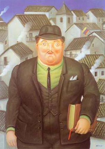 A Lawyer By Fernando Botero Art Reproduction from Wanford