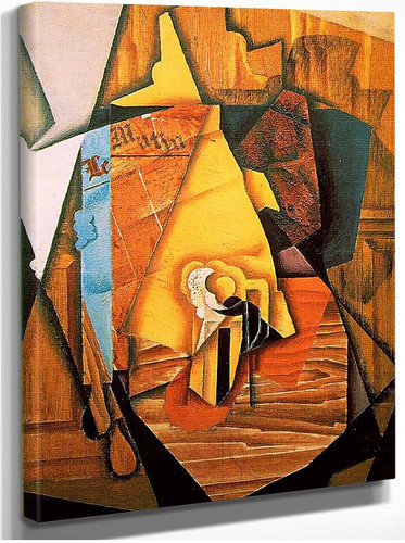 A Man In A Cafe 1914 By Juan Gris