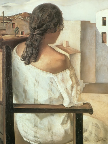 Girl Seen From Behind by Dali Print