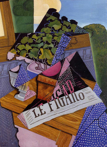 A Pot Of Geraniums 1915 By Juan Gris Art Reproduction from Wanford