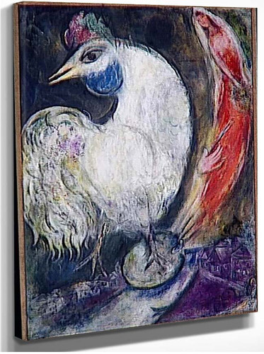 A Rooster 1947 By Marc Chagall