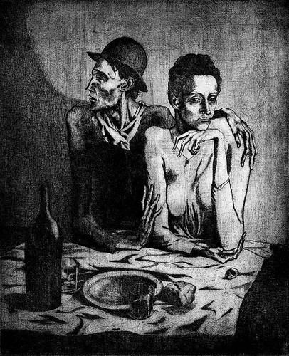 A Simple Meal 1904 By Pablo Picasso Art Reproduction from Wanford