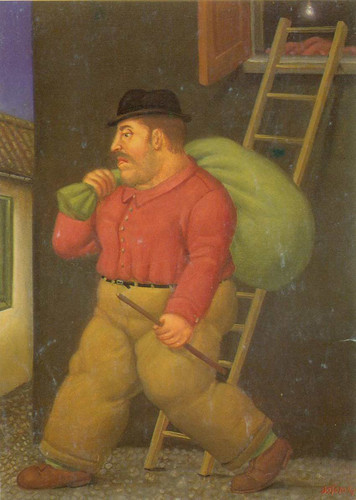 A Thief By Fernando Botero Art Reproduction from Wanford