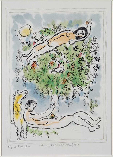 A Tree In Blossom 1977 By Marc Chagall Art Reproduction from Wanford