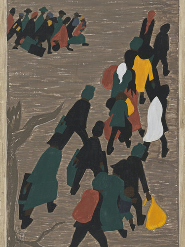 Migration Panel 18 The Migration Gained In Momentum by Jacob Lawrence Print