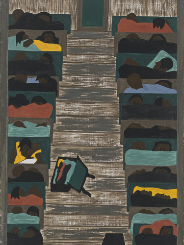 Migration Panel 6 The Trains Were Packed Continually With Migrants by Jacob Lawrence Print