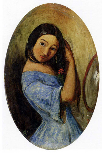 A Young Girl Combing Her Hair By John Everett Millais Art Reproduction from Wanford
