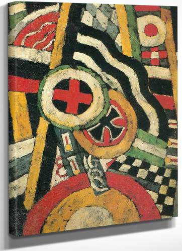 Painting Number 5 1914 by Marsden Hartley